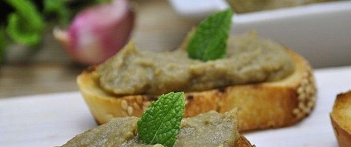 Ricetta Bruschette alla crema di melanzane